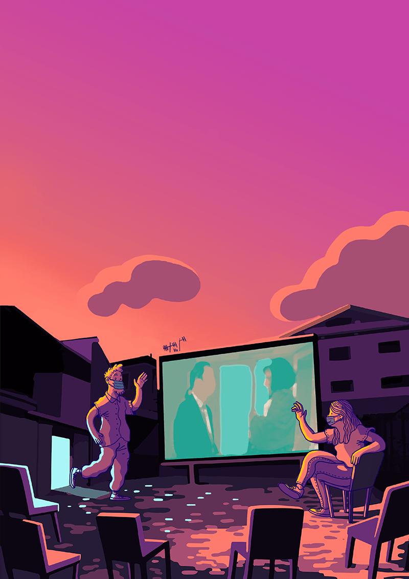 cinema in cortile